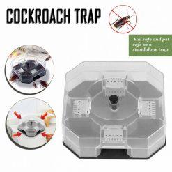Reusable Cockroach Killer Bait Trap - Black