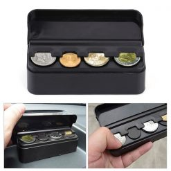 Car Coin Holder Organizer - Black