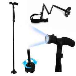 Collapsible Walking and Hiking Cane with LED Light