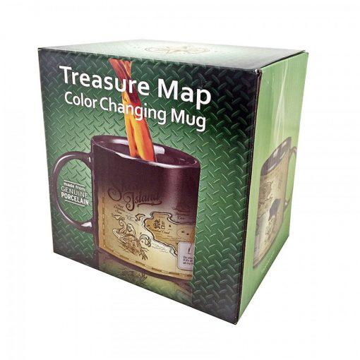300 ml Heat Sensitive Treasure Map Magic Mug  - Black