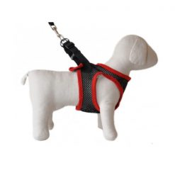 Dog Control Harness Small - Black/Red