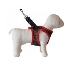 Dog Control Harness Medium - Black/Red