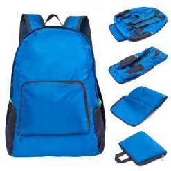 Foldable Lightweight Waterproof Travel Backpack - Blue