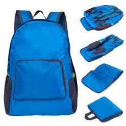 Foldable Lightweight Waterproof Travel Backpack - Blue