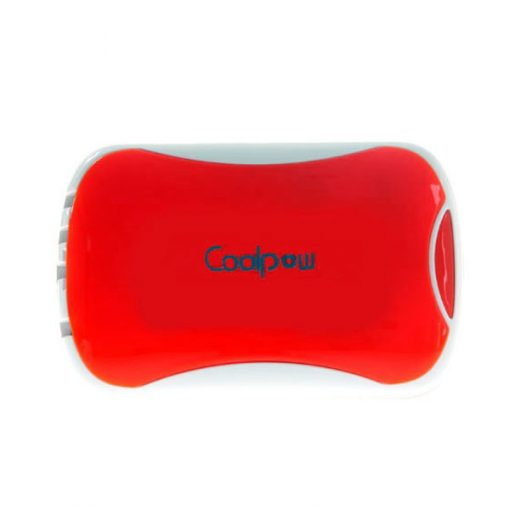Coolpow 6000 mah 2.1A Power Bank With Built In Charging Cables - Red