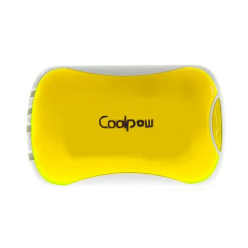 Coolpow 6000 mah 2.1A Power Bank With Built In Charging Cables - Yellow