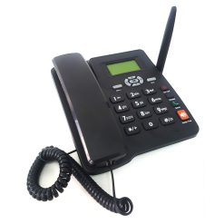Dual Sim GSM Fixed Wireless Phone with FM Radio - Black