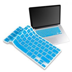 "Crystal Guard Soft Silicone Keyboard Case Cover for Apple Macbook Air 13"" - Light Blue"