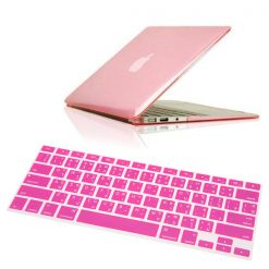 "Crystal Guard Soft Silicone Keyboard Case Cover for Apple Macbook Air 11"" - Pink"