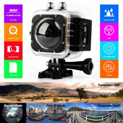 Cube 360 S Panorama 1080p Full HD Wifi Camera - Black