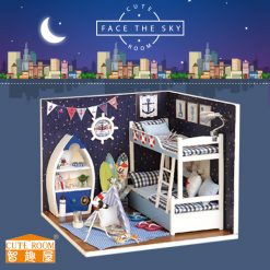 Cute Room Face the Sky Dollhouse 15.1*11.6*13.1CM