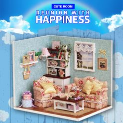 Cute Room Reunion with Happiness Series Dollhouse 19.6*10*13.5 CM