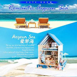 Cute Room Romantic Aegean Sea Dollhouse 30*24*35 CM