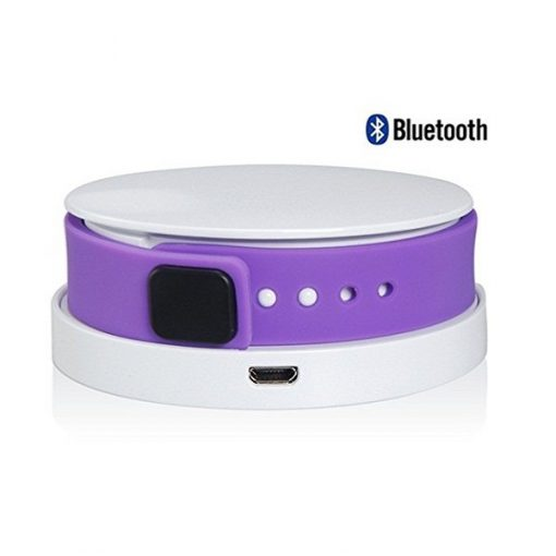 Cyband Bluetooth 4.0 Smart Wristband Waterproof with Activity Tracking and Charger -  Purple