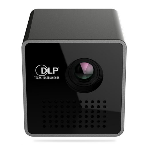 P1+ Mini DLP LED Projector With Wifi Phone Interface - Black