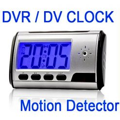 DV DVR Clock With Hidden Camera and Remote Control - Black