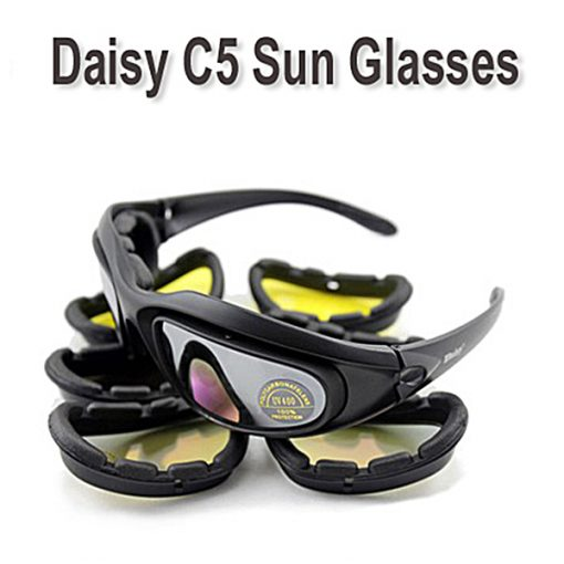 Daisy C5 Polarized Army Military Tactical Shooting Sunglasses - Black