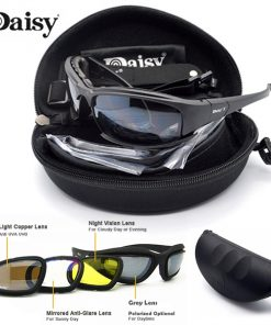 Daisy Tactical Eye Protection Sunglasses With Interchangeable Lens - Black