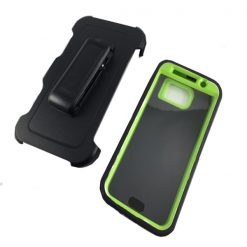 Heavy Duty Hard Case With Screen Protection And Belt Clip for Samsung Galaxy S6 - Light Green