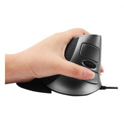 Delux Vertical Optical Mouse - Black