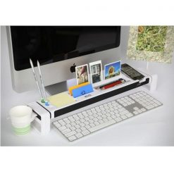 Desktop Organizer for Apple iMac with built-in USB Hub and Memory Card Reader - White