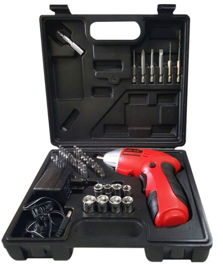 Dextra Portable Electric Drill - Red