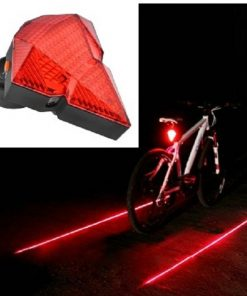 Diamond Style Wireless LED Red Laser Bicycle Tail Light