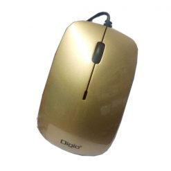 Digio Wired USB Optical Mouse - Brown