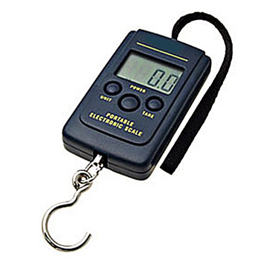 40kg Portable Electronic Hanging Digital Pocket Weight Scale - Black