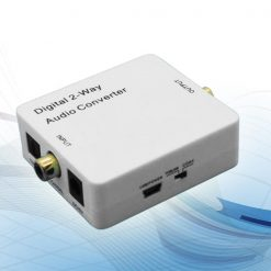 digital 2 Way Toslink Coaxial Audio Converter Repeater - White
