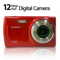 Cobra 12.0 Megapixel 8x Zoom Digital Camera  - Red