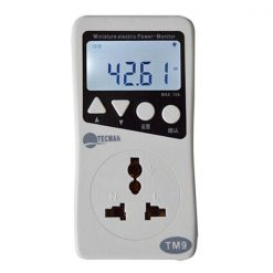 Digital Electric Power Consumption Monitor - Grey
