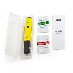 LCD Digital Pen shape PH Meter With ATC - Yellow