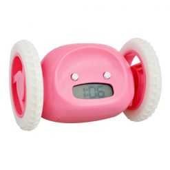 Digital Running Alarm Clock - Pink