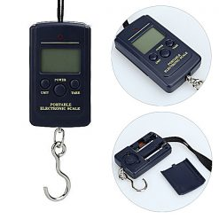 40kg Portable Electronic Hanging Digital Pocket Weight Scale - Black