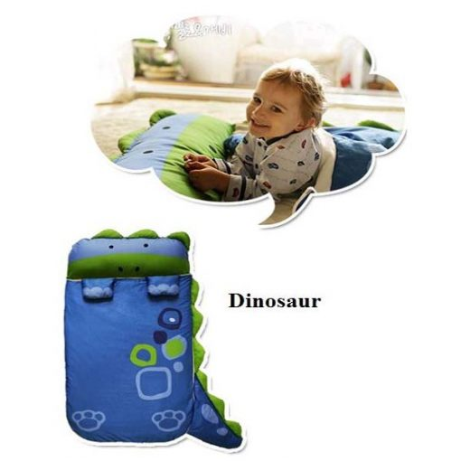 Dinosaur Animal Shaped Toddler Sleeping Bag for Children - Blue