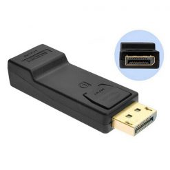 Display Port DP Male To HDMI Female Adapter - Black