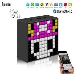 Divoom Timebox Mini Bluetooth Speaker With Smart LED Panel - Black