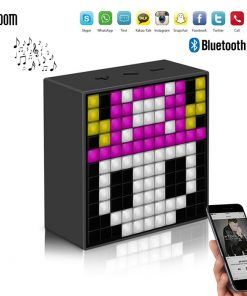 Divoom Timebox Mini Bluetooth Speaker With Smart LED Panel - Black