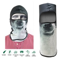 Dog Face Design Full Face Mask - Gray