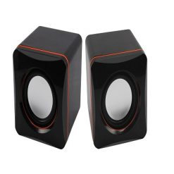 Double Horn Mini Music Speaker - Black