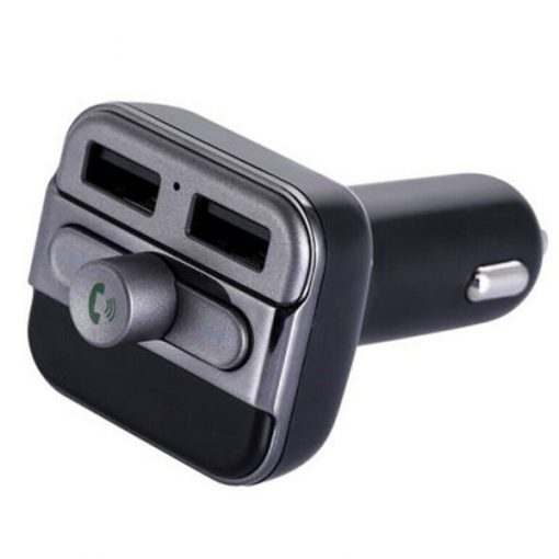 Dual USB Bluetooth Handsfree Car Kit With FM Transmitter And MP3 Player - Black