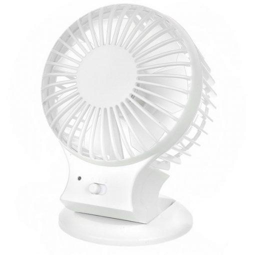Dual Blade Rechargeable Mini Fan - White