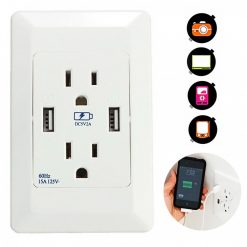 125v Dual USB Port Wall Charger Adaptor Socket