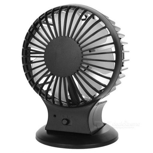 Dual Blade Rechargeable Mini Fan - Black