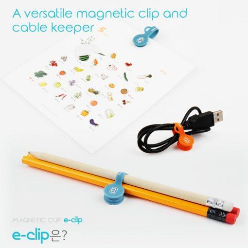 Multifunction Silicon Magnetic Clip Organizer - Orange
