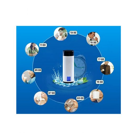 E-Show 8 Drinking Cup With Digital Reminder Alarm - White