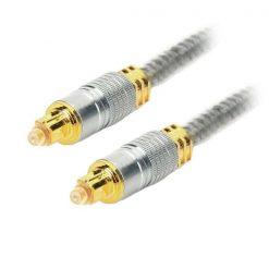 3 Meters Digital Optical Fiber Cable - Silver