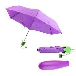 Eggplant Folding Umbrella - Purple