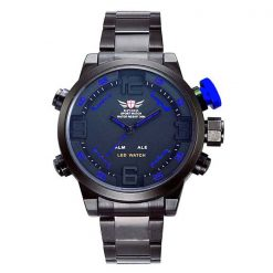 Epozz Stainless Steel Water Resistant Sports Watch - Blue